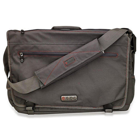 ECBC Trident Messenger Bag w-Adjustable Shoulder Strap (Gray) - Fits Up To 14 Notebooks