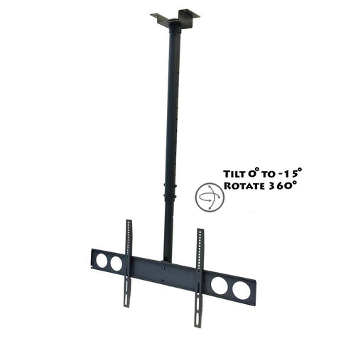 MegaMounts Heavy Duty Tilting Ceiling Television Mount for 37 to 70 LCD, LED and Plasma Screens