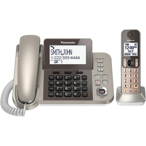 Panasonic(R) KX-TGF350N DECT 6.0 Corded-Cordless Phone System with Caller ID & Answering System (1 Handset)