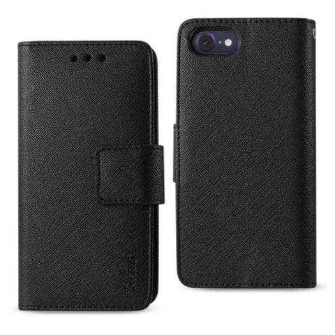 Reiko iPhone 8- 7 3-In-1 Wallet Case In Black