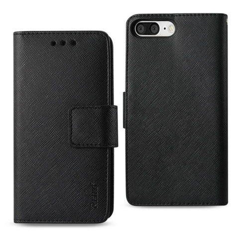 Reiko iPhone 8 Plus- 7 Plus 3-In-1 Wallet Case In Black