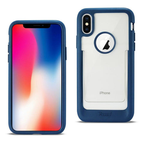 Reiko iPhone X Belt Clip Polymer Case In Clear Blue