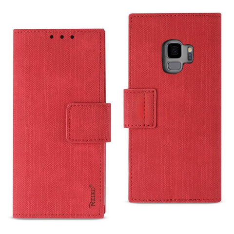 Reiko Samsung Galaxy S9 3-In-1 Wallet Case In Red
