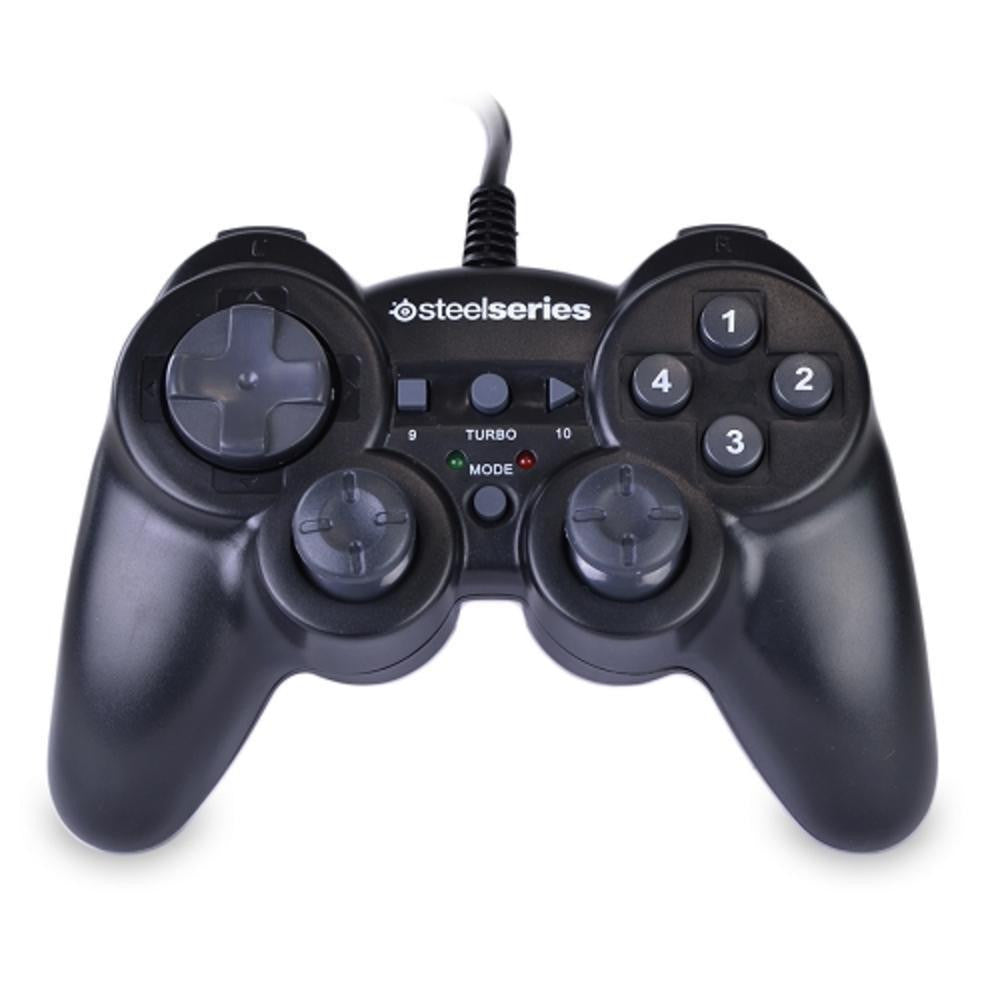 USB Rumble Gaming Controller for PC and MAC (Black)-Video Games & Consoles-SteelSeries-ILife Store