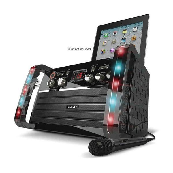 Akai CDG Portable Karaoke System with iPad Cradle and Line Input