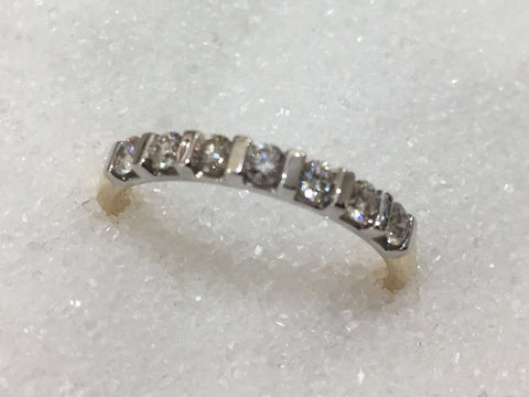 9ct 7 Stone Diamond Ring TDW.35ct