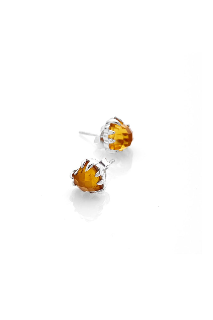 Love Claw Earrings- Citrine