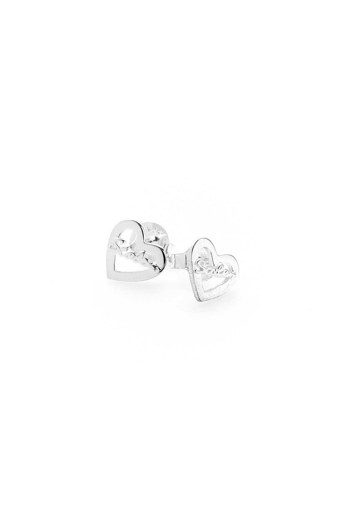 Heart Script Stolen Earrings