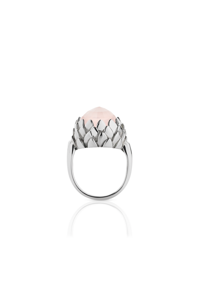 Protea Cocktail Ring Rose Quartz