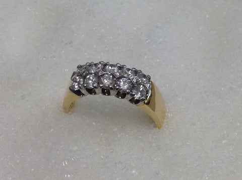 18ct Right Hand Diamond Ring TDW 1.00ct