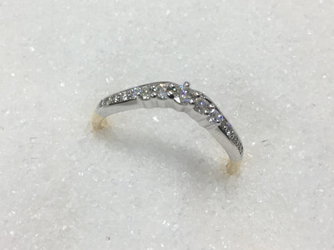 9ct Curve Diamond Ring TDW .25ct