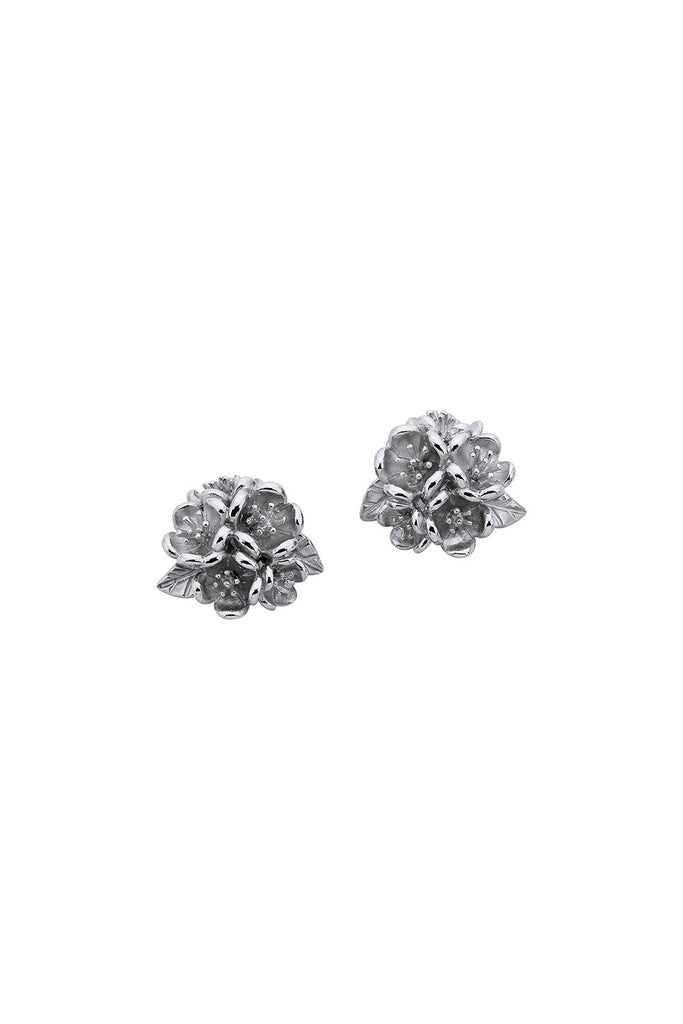 Flower Ball Stud Earrings