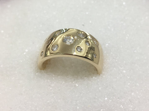 9ct Dome Diamond Ring TDW .36ct