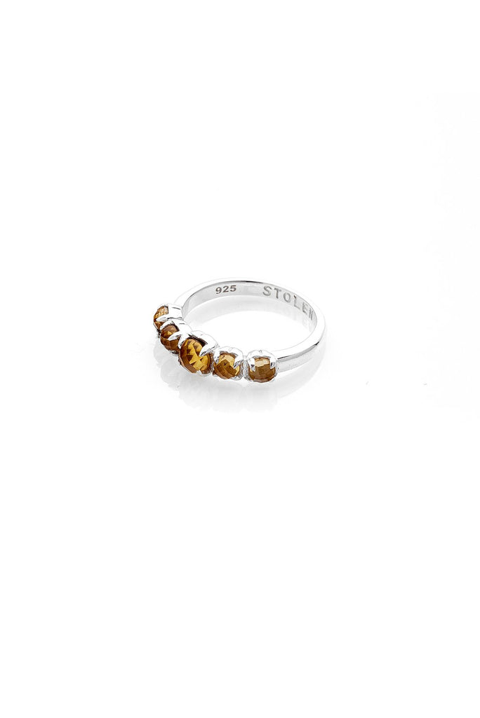 Halo Cluster Ring- Citrine