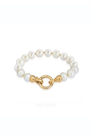 Gold Pearl Bracelet Small