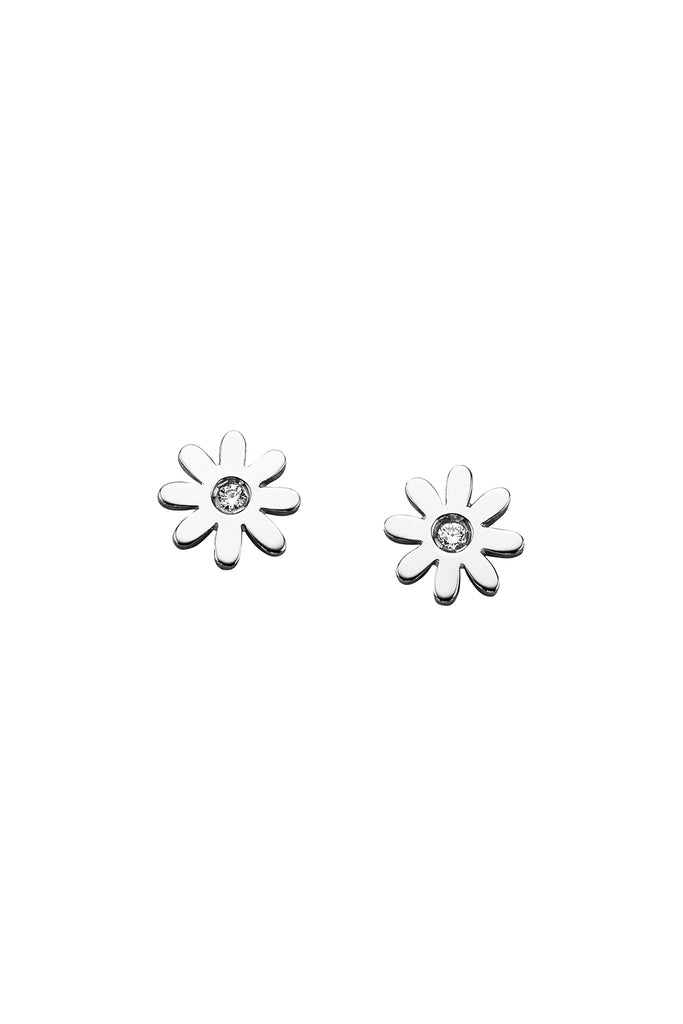 Mini Daisy Silver Stud Earrings