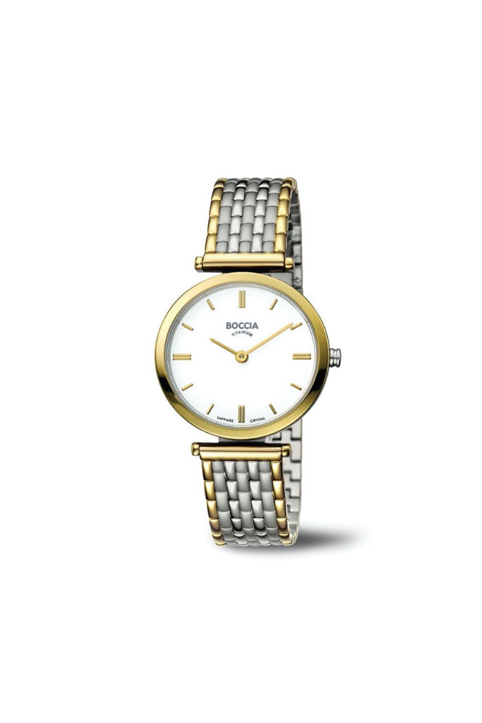 Boccia Ladies Two-Tone Dress Watch
