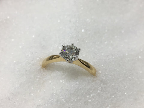 18ct Solitaire Diamond Ring TDW .73ct
