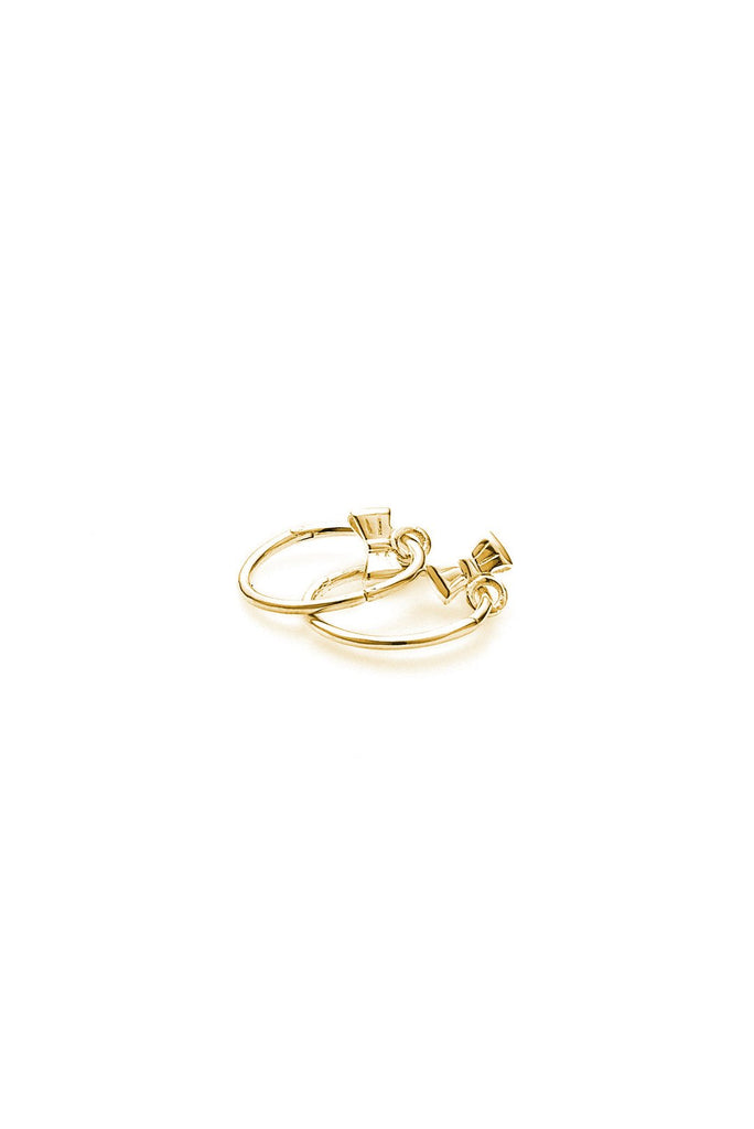 Baby Bow Sleeper- Yellow Gold Plated