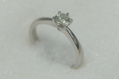 9ct Solitare Diamond Ring TDW .50ct