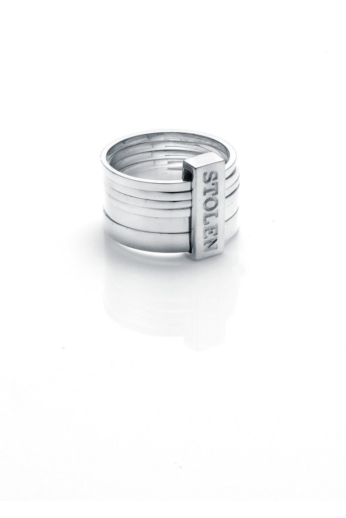 Six Piece Band Ring