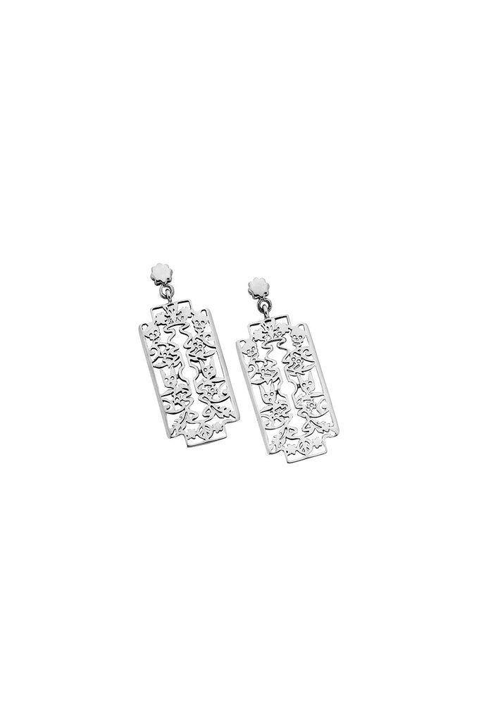 Filigree Razor Blade Earrings