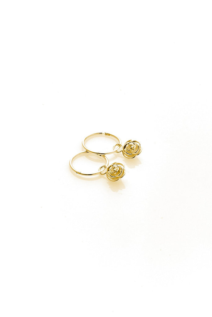 Rose bud Sleeper- Yellow Gold Plated
