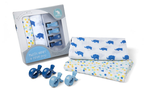 Boys Spots & Elephants Muslin - Free Shipping