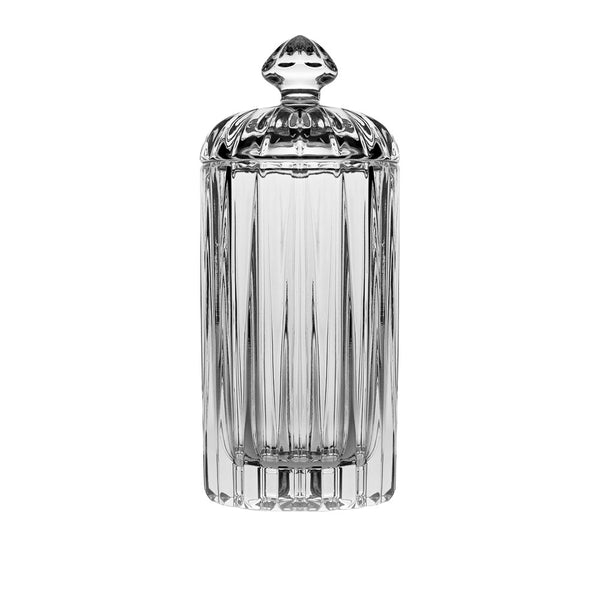 "Majestic Gifts Crystal ROUND SWAB HOLDER, 5.25""H"