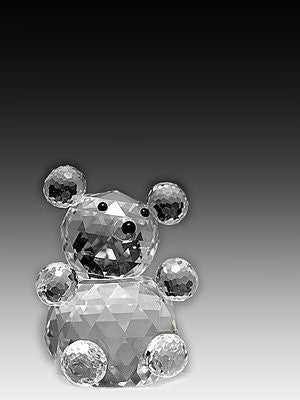 Asfour Crystal 642-50 3.03 L x 1.57 H in. Crystal Bear Animals Figurines