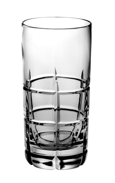 Majestic Gifts BL-503 Hand Cut Crystal Highball Tumbler 14 oz. Set of 4
