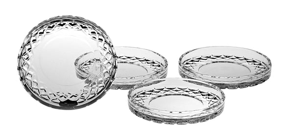 "Majestic Gifts C598 Crystal Coaster, 4.25""D - Set of 4"