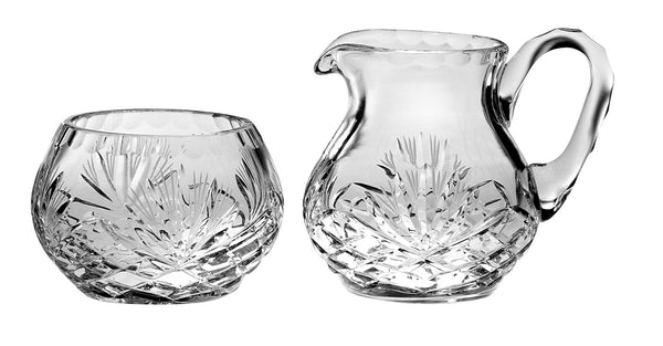 Majestic Gifts C651MJ Hand Cut Crystal Sugar & Creamer Set
