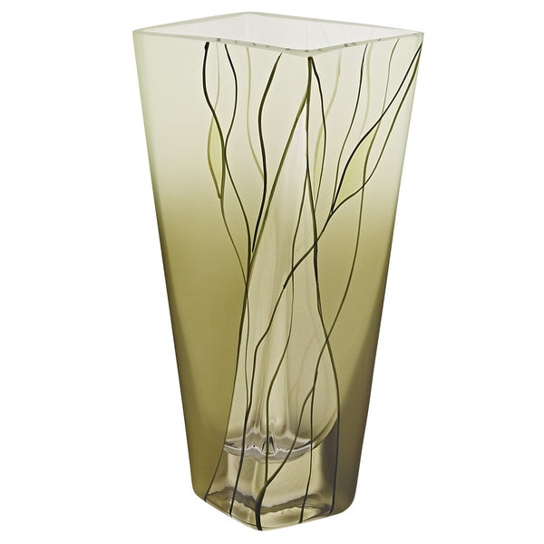 Badash CD107 Evergreen Square Vase  H8""