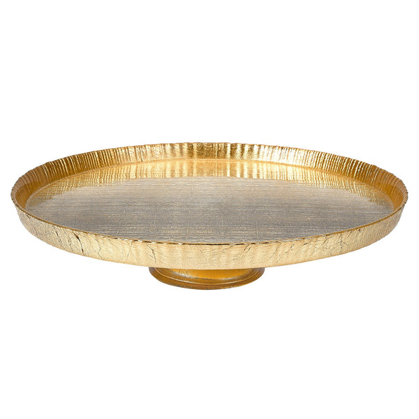 Badash D106G Tuscany Gold Cakeplate   D8.5""