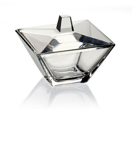 "Majestic Gifts E62970 Quality Glass Candy Box, Fine European High Quality Glass, 5.5""square"