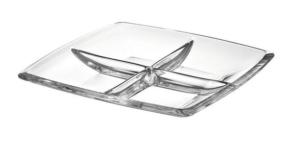 "Majestic Gifts E63236 Quality Glass 4 part dish 11""x11"""