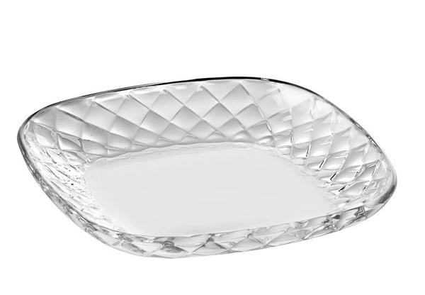 "Majestic Gifts E65478-S6 Quality Glass Platter 7.5""D"