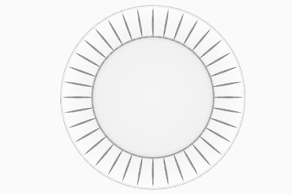 "Majestic Gifts E67610-S2 Quality Glass Charger Plate, 12.6""D, Set of 2"