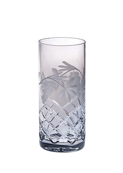 Majestic Gifts GR-503 Hand Cut Crystal Highball Tumbler 14 oz. Set of 4