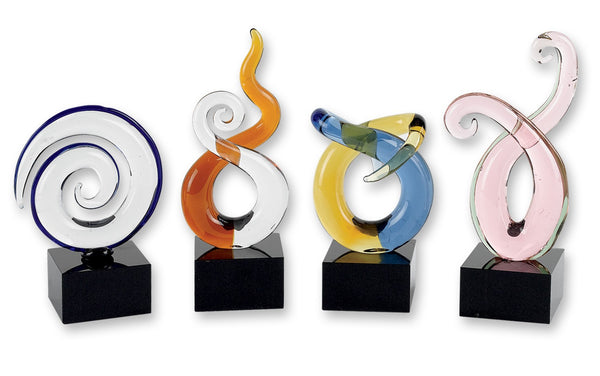 Badash GW555 4 Pc Mini Swirl Centerpieces   H4-6""