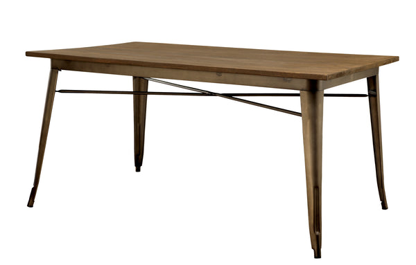 Camden Industrial Dining Table in Natural Elm