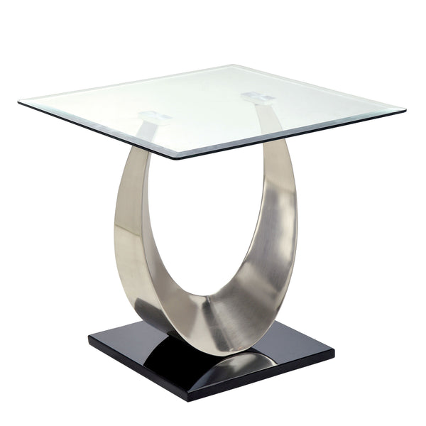 Loftwin Contemporary End Table with Satin Plating