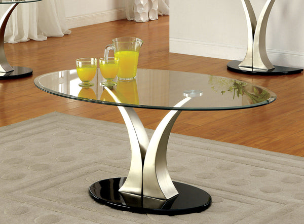 Beatrice Contemporary Coffee Table with Satin Plating