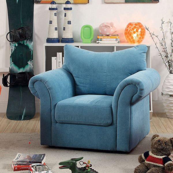 Celeste Contemporary Youth Chair in Blue