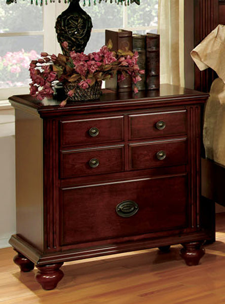 Maia Traditional Nightstand in Cherry