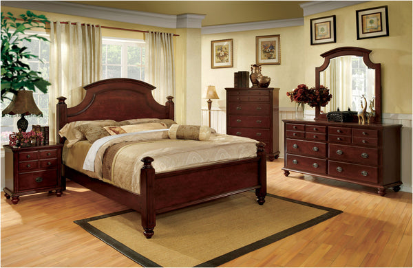 Maia Traditional Queen Bed in Cherry