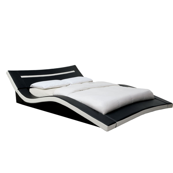 Jaina Contemporary California King Bed in Black/White