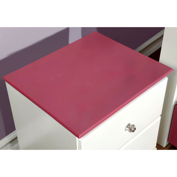 Josephine Transitional Nightstand in Pink