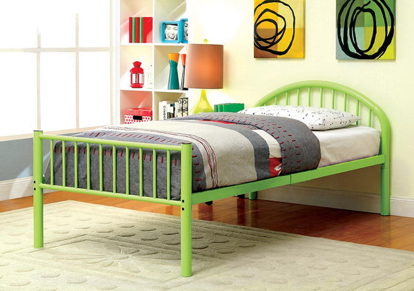 Alloway Contemporary Twin Bed in Apple Green